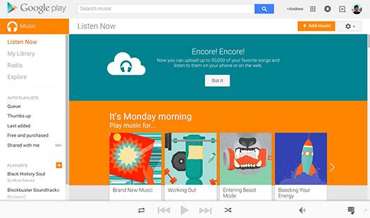 Google Play Music 50,000 canciones