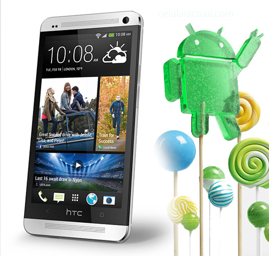 HTC One M7 con Lollipop