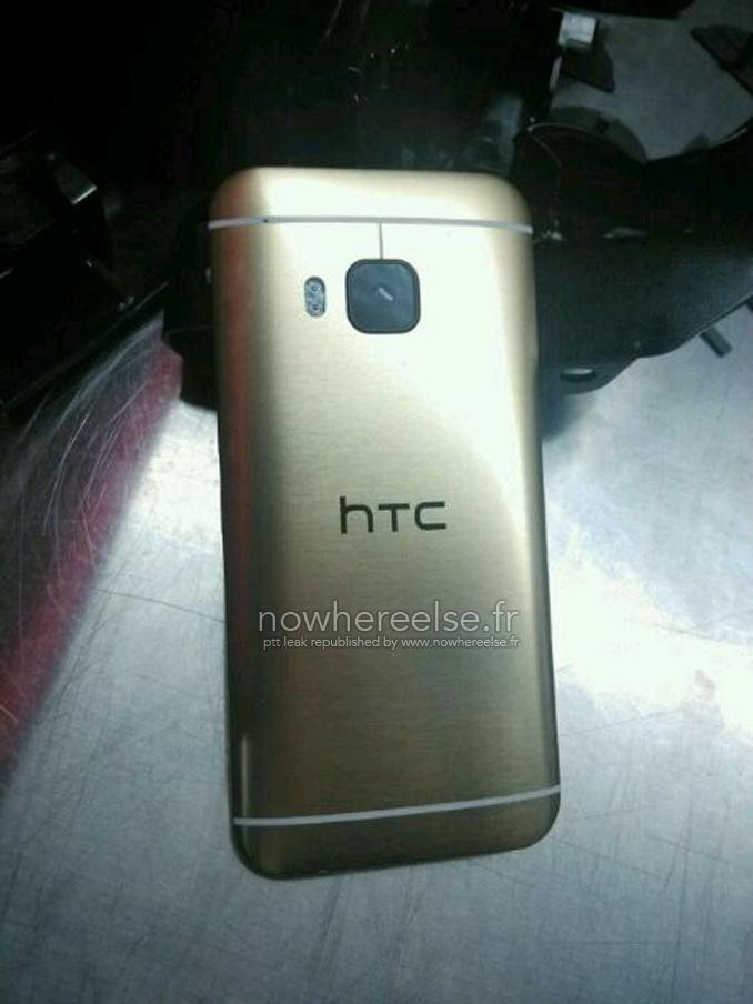 HTC One M9 Oro parte posterior
