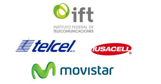 Ifetel Telcel, Iusacell, Movistar logos