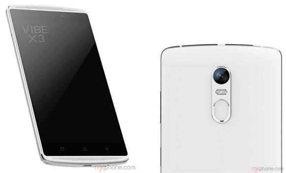 Lenovo Vibe X3 de lado pantalla y cámara trasera