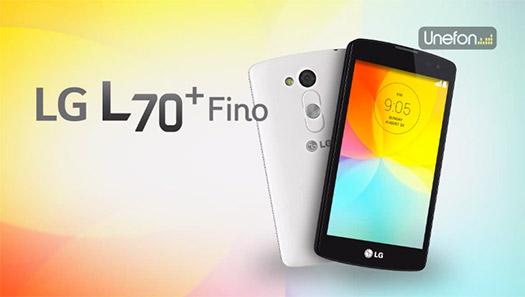 LG L70 Plus Fino con Unefon México