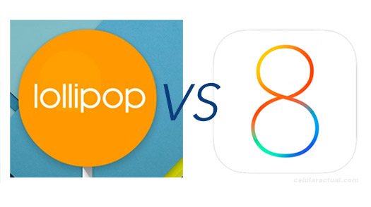 Lollipop vs iOS 8