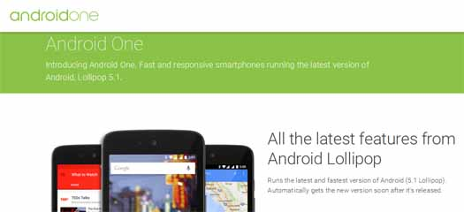 Android 5.1 Lollipop en página de Android One
