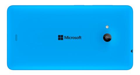 Lumia 530 azul parte trasera