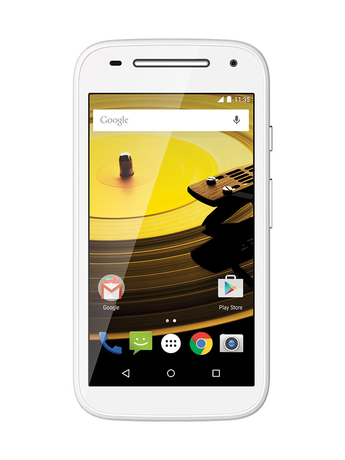 Moto E 2015 color blanco pantalla