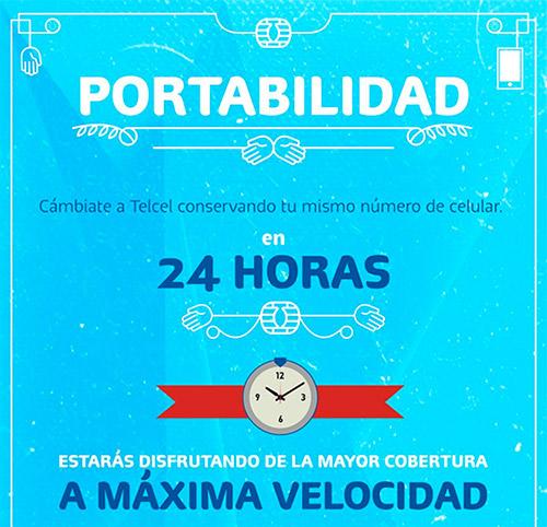 Portabilidad Telcel 24 horas