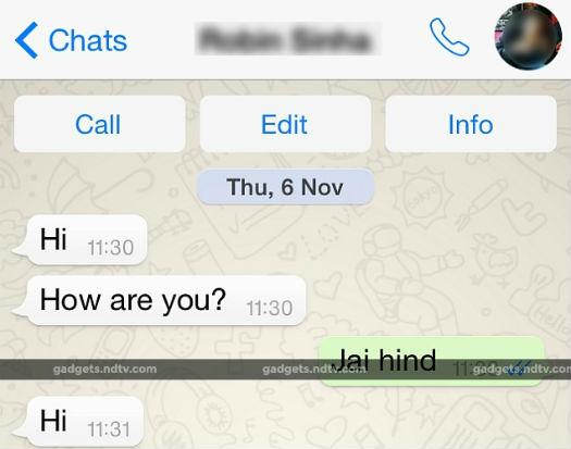 Whatsapp icono de llamada por voz para iOS