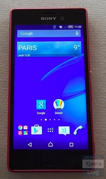 Sony Xperia M4 Aqua pantalla