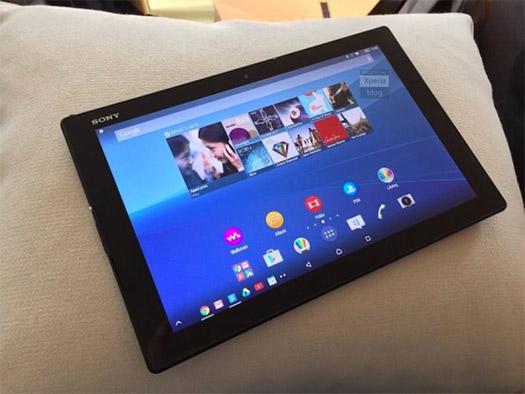 Sony Xperia Z4 Tablet pantalla