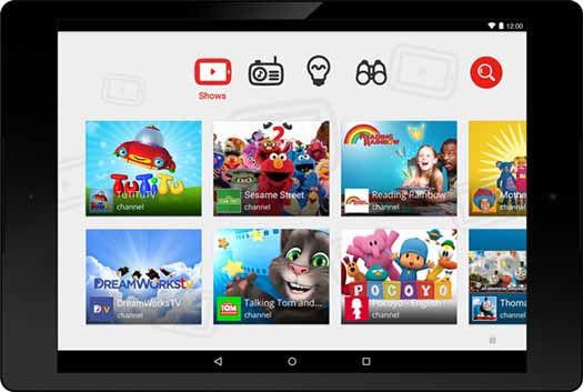 YouTube Kids captura de pantalla