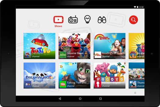 YouTube Kids captura de pantalla