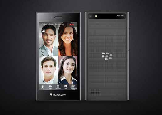 BlackBerry Leap pantalla y reverso