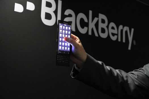 BlackBerry prototipo con pantalla curva