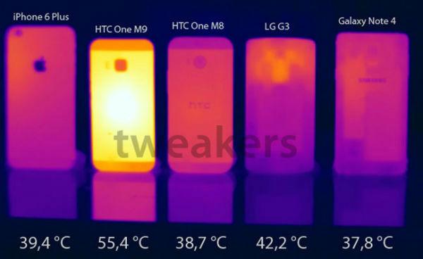 HTC One M9 problemas de calentamiento