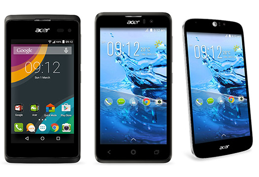 Acer Liquid Jade Z , Liquid Z520 y Liquid Z220