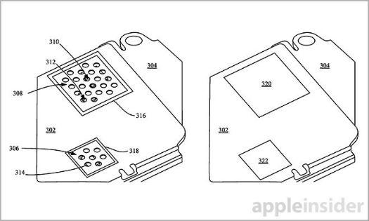 Apple esquema de patente para sistema hidrófobo.