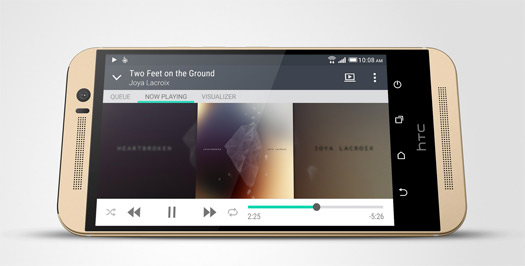 HTC One M9 video player