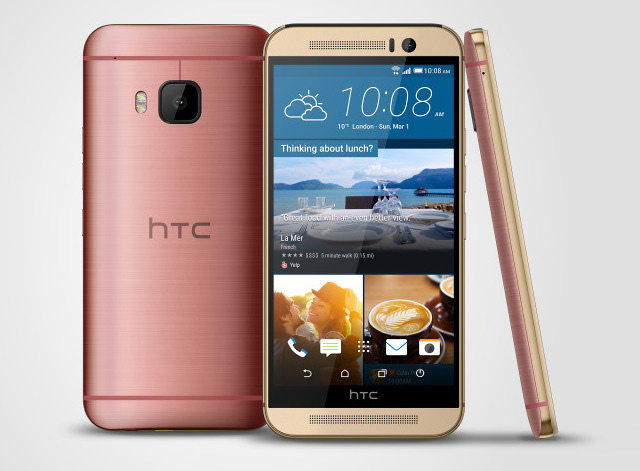 HTC One M9 color rosa oro al completo