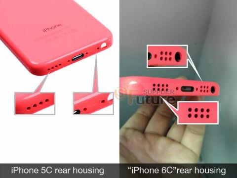 iPhone 6c comparado con el 5c filtracion de altavoces