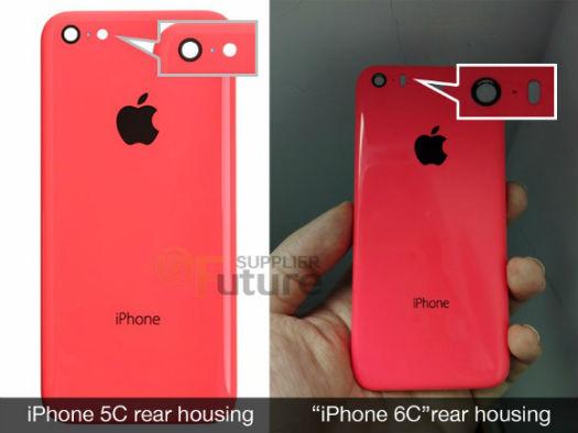 iPhone 6c comparado con el 5c filtracion de cámara