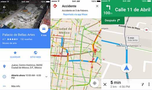 Google Maps se actualiza para iOS y tiene mapas sin conexión a internet