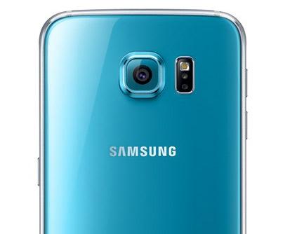 Samsung Galaxy S6 color azul detalle cámara