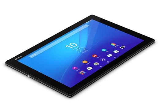 Sony Xperia Z4 Tablet recostada