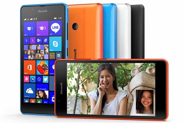 Lumia 540 Dual SIM colores