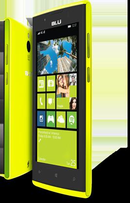 Blu Win JR LTE oficial verde