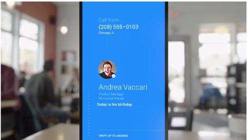 Facebook app Hello, llamadas-entrantes