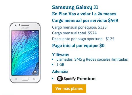 Samsung Galaxy J1 en plan Movistar Vas a volar 1