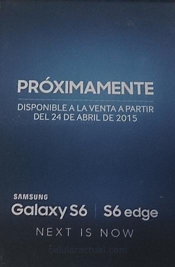 Galaxy S6 en México póster 24 de abril