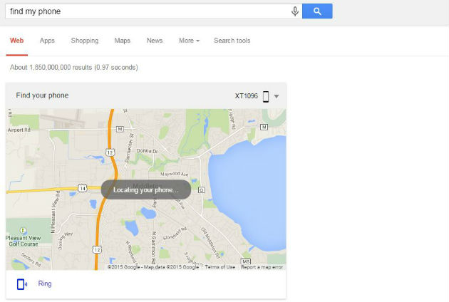 Localiza tu celular buscando Find my phone directamente en Google