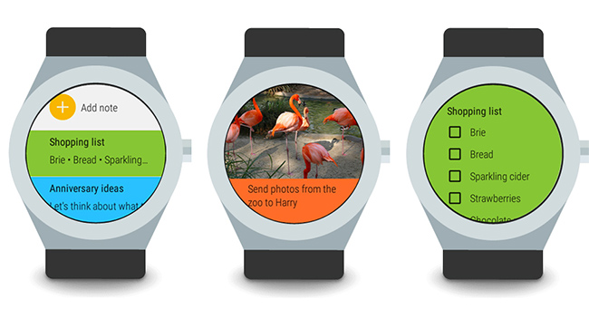 Google Keep en Android Wear