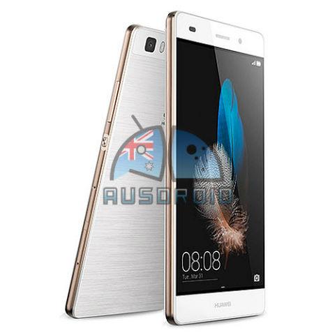 Huawei P8 diseño filtrado en blanco