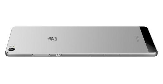 Huawei P8 Max vista trasera en color plata
