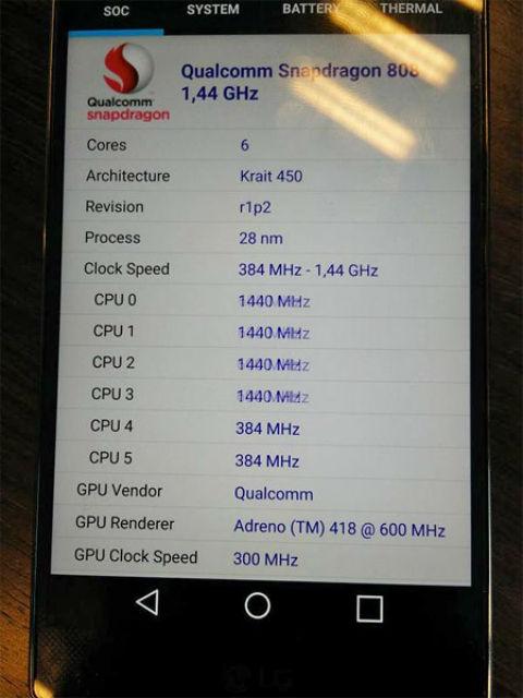 LG G4 con procesador Snapdragon 808
