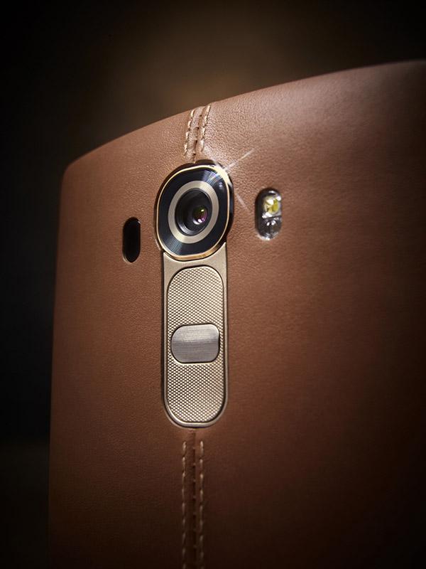 LG G4 cubierta trasera de piel