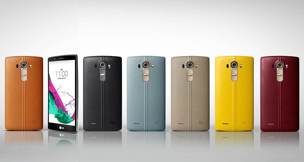 LG G4 cubierta trasera de piel en diversos colores