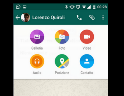 Material Desing para Whatsapp, menu-adjuntos
