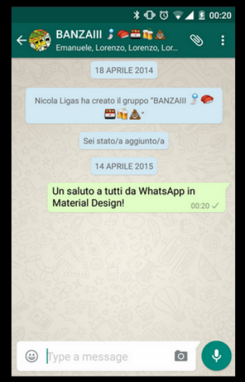 Material Desing para Whatsapp, conversación