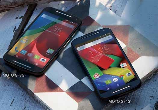 Moto G segunda generacion en versión 3G y 4G