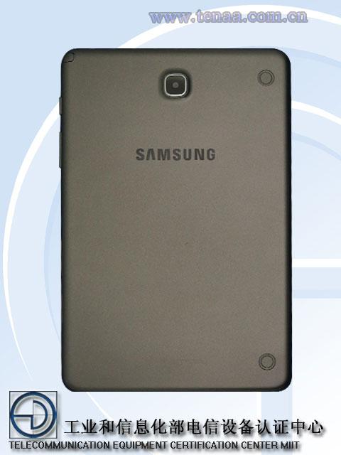 Samsung Galaxy Tab 5 posterior TENAA