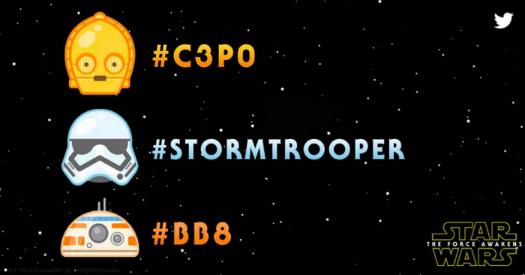 Twitter nuevos emojis de Star Wars