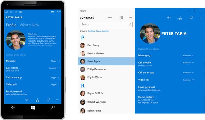 Windows 10 interfaz para smartphones