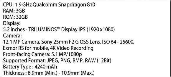 Xperia P2 especificaciones filtradas