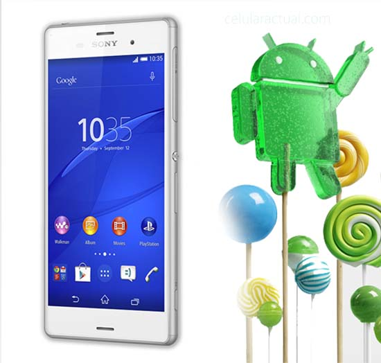 Sony XperiaZ3 con Android Lollipop