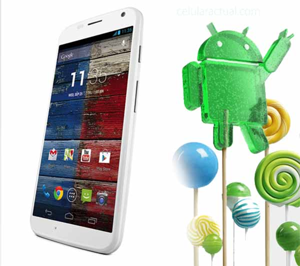 Moto X con Android Lollipop