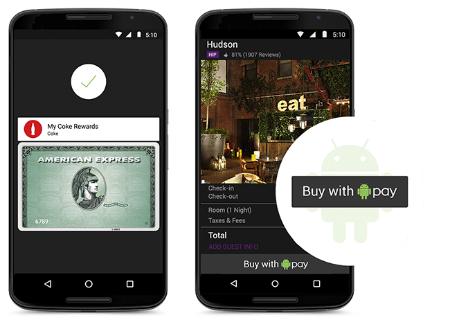 """Android Pay """"Comprar con Android Pay"""""""